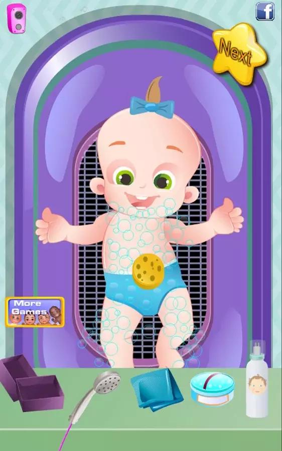 超级保姆 - 婴儿游戏
