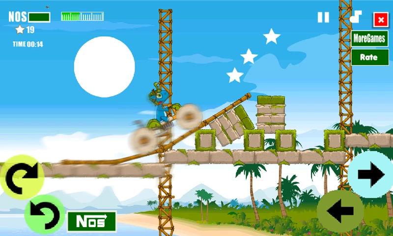 本年度*的竞速巨作!!!不同于其他的竞技游戏!!!全新的道具!!全新的画质!!!真实的音效!!!逼真的特效!!!更加真实和透彻的感受 !!!还在犹豫什么,快快行动下载来玩吧!游戏介绍:《小恐龙骑单车》是一款备受瞩目的竞速游戏。本作游戏的主人公是一只非常可爱的小恐龙。它驾驶着非常酷炫的自行车要在限定的时间内抵达终点。借助自行车的性能突破各种障碍(岩石、滚木等),越过各种险峻的地形。游戏具有一定的挑战度,画面和效果都很好,值得一试哦!游戏特色流畅的游戏操作体验背景音乐与游戏完美结合