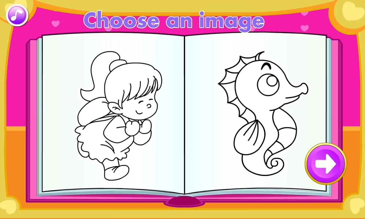 儿童填色画册