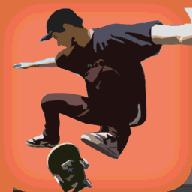 城市滑板飞跃3d